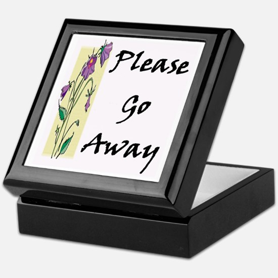 Please Go Away Keepsake Box
