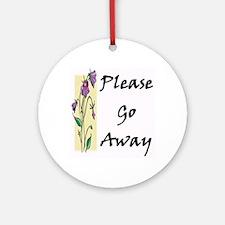 Please Go Away Keepsake (Round)