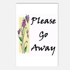 Please Go Away Postcards (Package of 8)