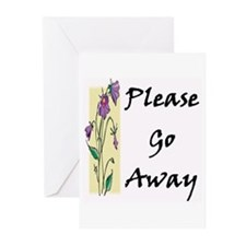 Please Go Away Greeting Cards (Pk of 10)