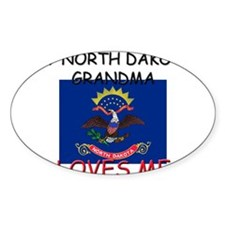 My North Dakota Grandma Loves Me Oval Decal