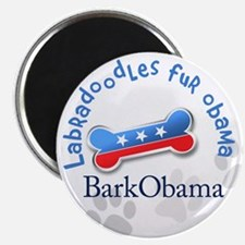 Labradoodles fur Obama Magnet