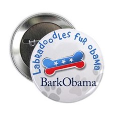 "Labradoodles fur Obama 2.25"" Button"