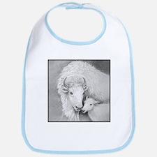 White Buffalo & Calf ~ Baby Bib