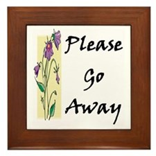 Please Go Away Framed Tile