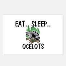 Eat ... Sleep ... OCELOTS Postcards (Package of 8)