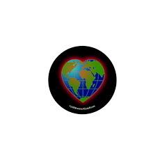 Earth Heart Mini Button (10 pack)