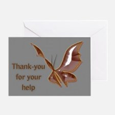 Thank You For Your Help Greeting Card