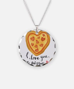 i love you to pizzas Necklace