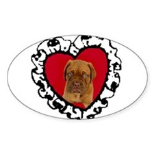 Love Dogue de Bordeaux puppy Oval Decal