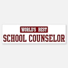 Worlds best School Counselor Bumper Bumper Bumper Sticker