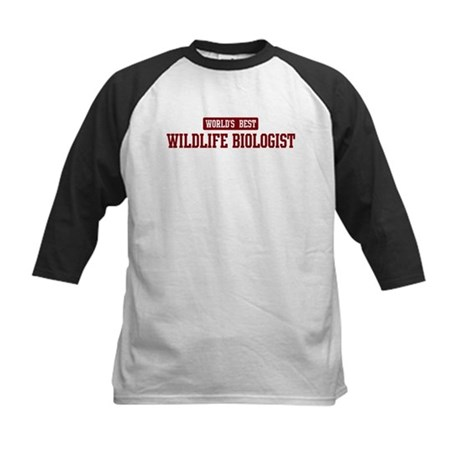 Worlds best Wildlife Biologis Kids Baseball Jersey
