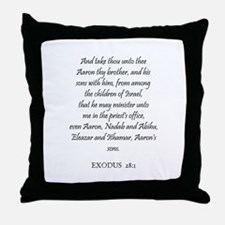 EXODUS  28:1 Throw Pillow