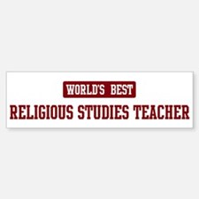 Worlds best Religious Studies Bumper Bumper Bumper Sticker