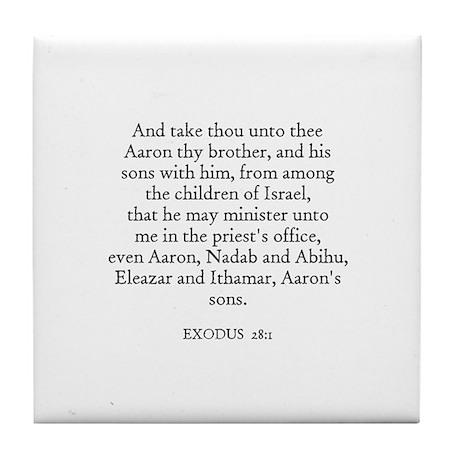 EXODUS 28:1 Tile Coaster