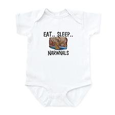 Eat ... Sleep ... NARWHALS Infant Bodysuit