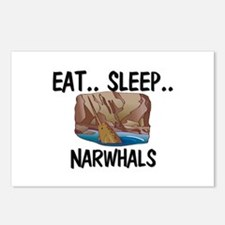 Eat ... Sleep ... NARWHALS Postcards (Package of 8