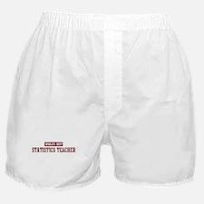 Worlds best Statistics Teache Boxer Shorts