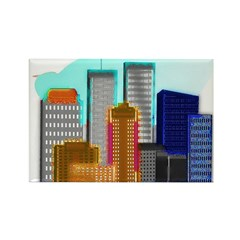 911 Twin Towers Rectangle Magnet
