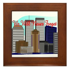 911 Twin Towers Framed Tile