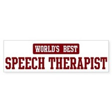 Worlds best Speech Therapist Bumper Bumper Sticker