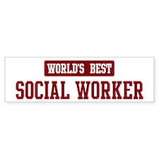 Worlds best Social Worker Bumper Bumper Sticker
