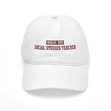 Worlds best Social Studies Te Baseball Cap