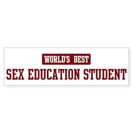 Worlds best Sex Education Stu Bumper Sticker