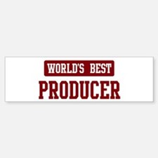 Worlds best Producer Bumper Bumper Bumper Sticker
