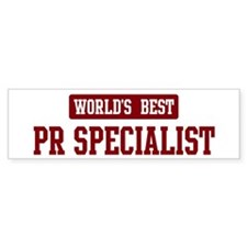 Worlds best Pr Specialist Bumper Bumper Sticker