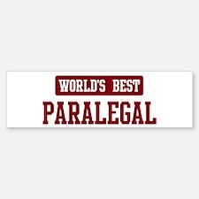 Worlds best Paralegal Bumper Bumper Bumper Sticker