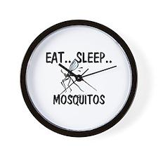Eat ... Sleep ... MOSQUITOS Wall Clock