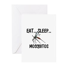Eat ... Sleep ... MOSQUITOS Greeting Cards (Pk of