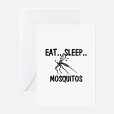 Eat ... Sleep ... MOSQUITOS Greeting Cards (Pk of
