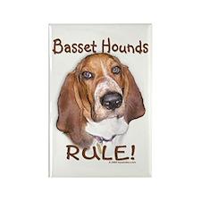 Basset Hounds Rule Rectangle Magnet
