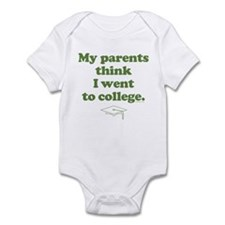 """""""Went to college"""" Infant Creeper"""