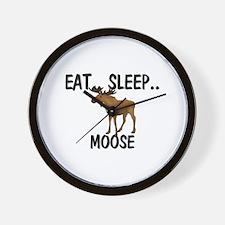 Eat ... Sleep ... MOOSE Wall Clock