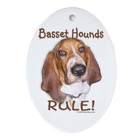 Basset Hounds Rule Oval Ornament