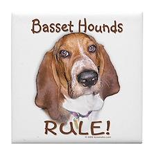 Basset Hounds Rule Tile Coaster