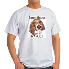 Basset Hounds Rule Ash Grey T-Shirt