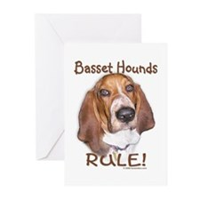 Basset Hounds Rule Greeting Cards (Pk of 10)