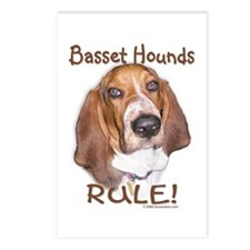 Basset Hounds Rule Postcards (Package of 8)