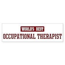 Worlds best Occupational Ther Bumper Bumper Sticker
