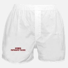 Worlds best Photography Teach Boxer Shorts