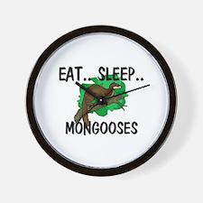 Eat ... Sleep ... MONGOOSES Wall Clock
