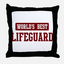 Worlds best Lifeguard Throw Pillow