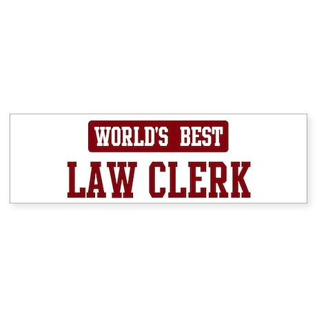 Worlds best Law Clerk Bumper Sticker