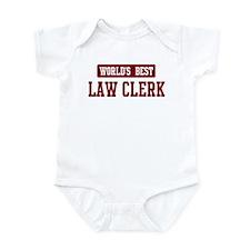 Worlds best Law Clerk Infant Bodysuit