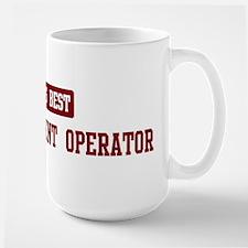 Worlds best Heavy Equipment Large Mug