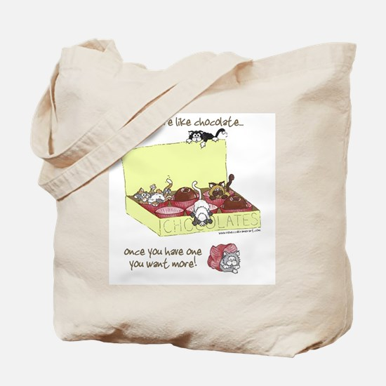 Chocolate Cats Tote Bag